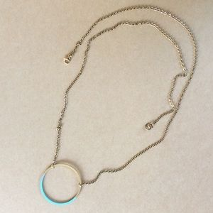 New Stylish Blue Patina accent Pendant Necklace